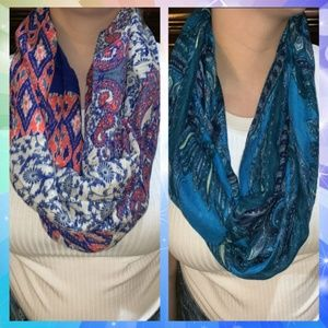 Two Maurices Infinity Scarves Patterned